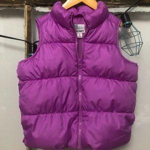 Puffer vest, Size 6/7